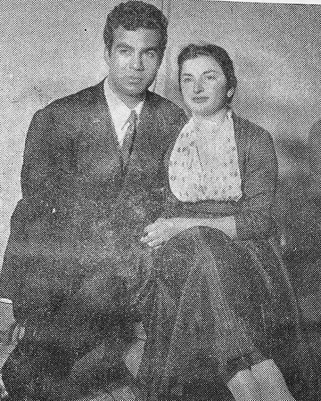 ناصر ملک مطیعی و همسرش