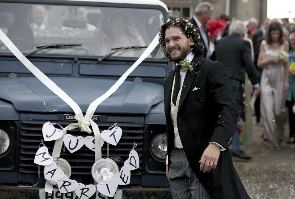 عکس های مراسم ازدواج کیت هرینگتون با رز لزلی