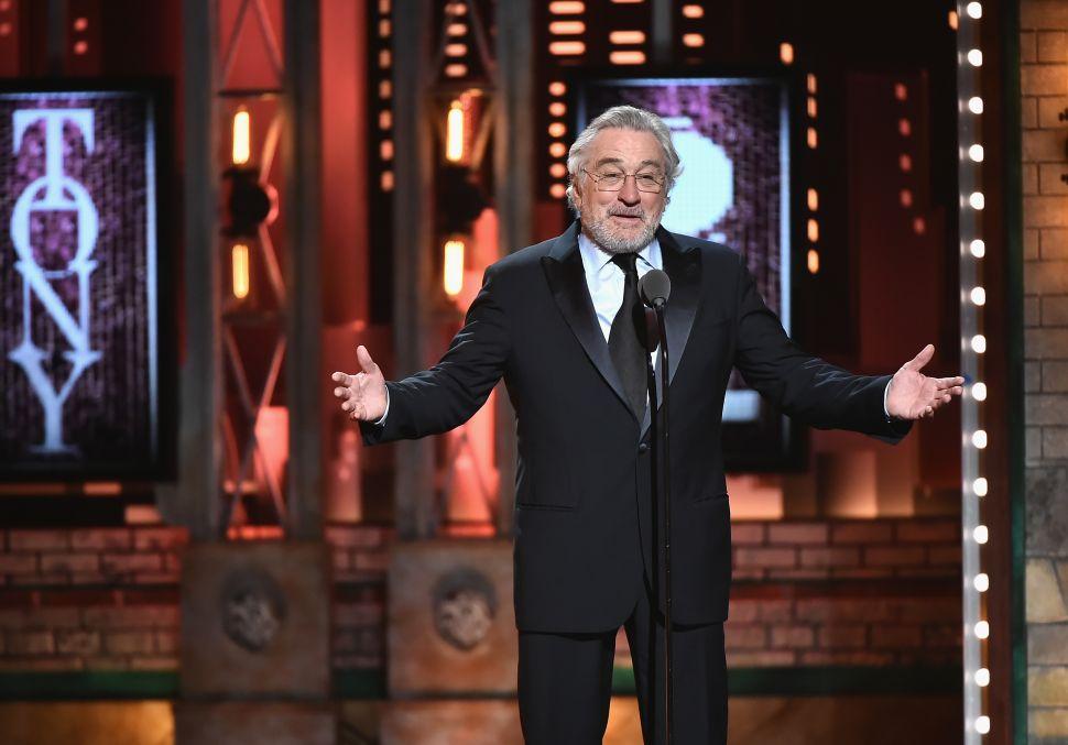 رابرت دنیرو در مراسم جوایز تونی 2018