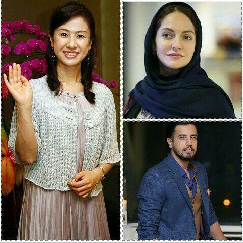 مهناز افشار و مهرداد صدیقیان در یک فیلم ژاپنی - ساخت فیلم مهمانخانه شکوفه نو