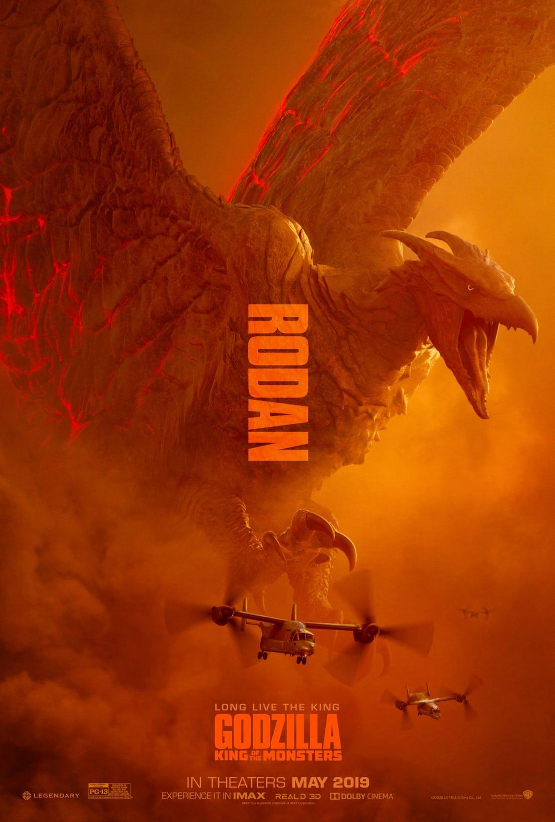پوسترهای جدید فیلم گودزیلا: سلطان هیولاها